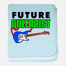 Future Guitarist Blue Guitar baby blanket
