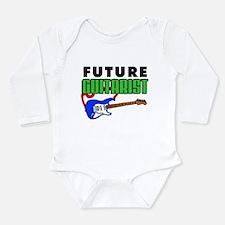 Future Guitarist Blue Guitar Long Sleeve Infant Bo