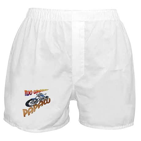 TWO WHEELIN' PAPAW Boxer Shorts