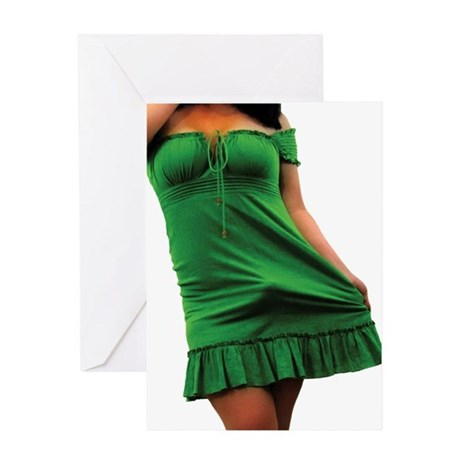 'Green Dress' Greeting Card