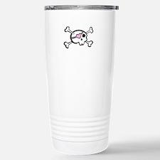 Pink Skull & Crossbones Travel Mug