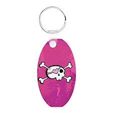 Pink Skull & Crossbones Keychains