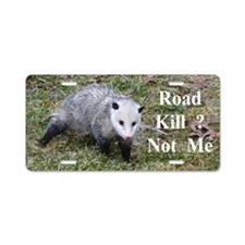 Possum Road Kill Aluminum License Plate