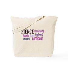 FIERCE Wordle Tote Bag