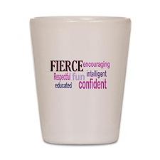 FIERCE Wordle Shot Glass