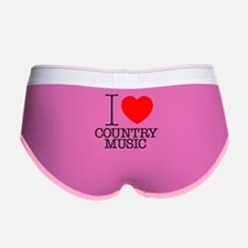 I Heart Country Music Women's Boy Brief
