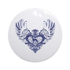 Whippet Ornament (Round)