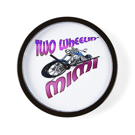 TWO WHEELIN' MIMI Wall Clock