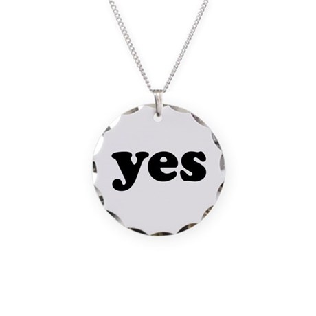 Yes Necklace Circle Charm