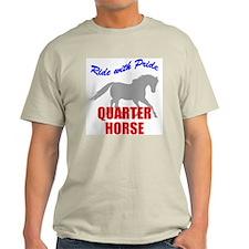 Ride With Pride Quarter Horse Ash Grey T-Shirt