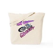 TWO WHEELIN' GRANNY Tote Bag