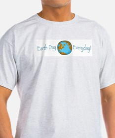 Earth Day is Everyday Ash Grey T-Shirt