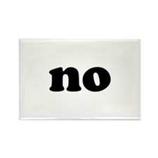 No Rectangle Magnet (100 pack)