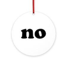 No Ornament (Round)