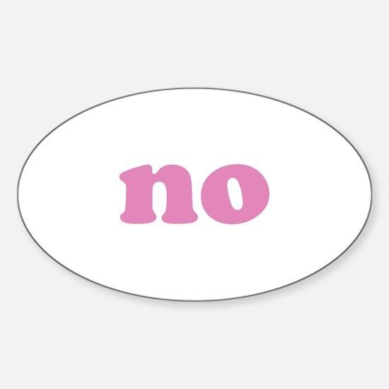 No Sticker (Oval)