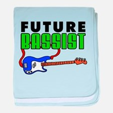 Future Bassist Blue Bass baby blanket