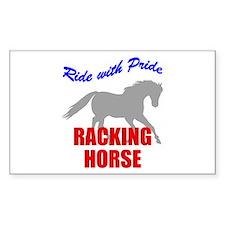 Ride With Pride Racking Horse Sticker (Rectangular