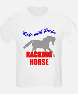 Ride With Pride Racking Horse Kids T-Shirt
