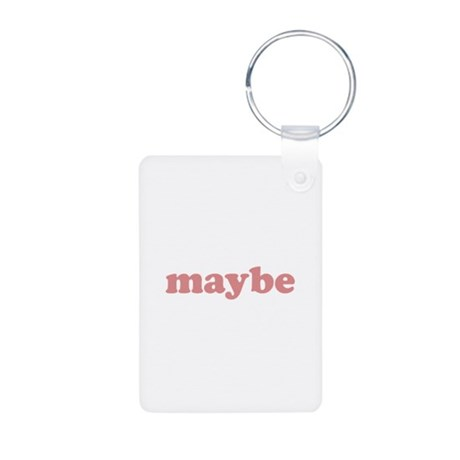 Maybe Aluminum Photo Keychain