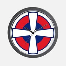 Serbia Roundel Wall Clock