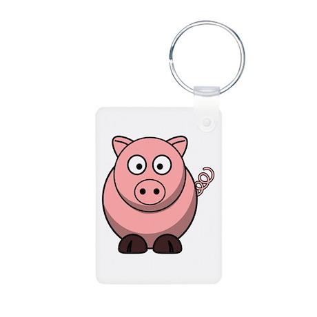 Cartoon Pig Aluminum Photo Keychain