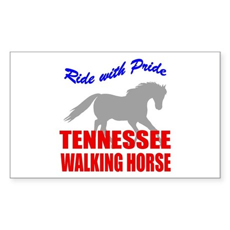 Pride Tennessee Walking Horse Sticker (Rectangular