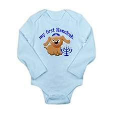 baby's first Hanukah Long Sleeve Infant Bodysuit