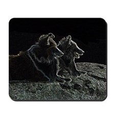 Shetland Sheepdog On the Rock Mousepad