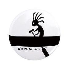 """Kokopelli Canoeist 3.5"""" Button (100 pack)"""