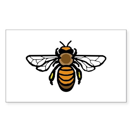 Bee Sticker (Rectangle)