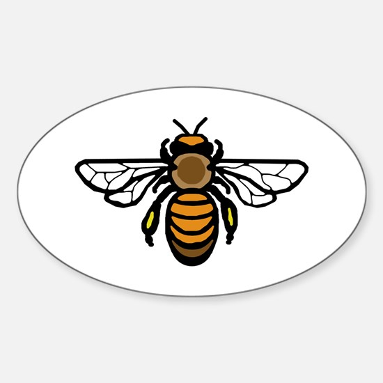 Bee Sticker (Oval)