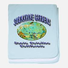 Submarine Gardens baby blanket
