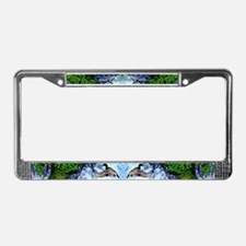 Mallards in flight License Plate Frame