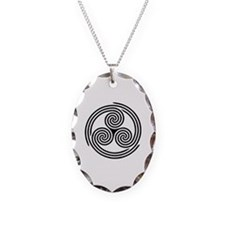 Triple Spiral Triskelion Necklace