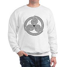 Triple Spiral Triskelion Sweatshirt