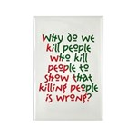 Why Do We Kill People... Rectangle Magnet (10 pack