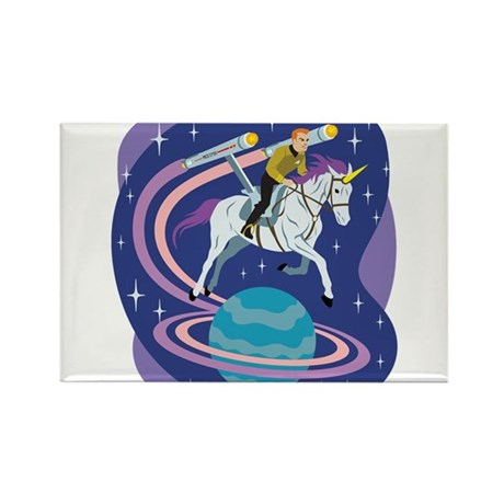 Star Trek Unicorn Enterprise Rectangle Magnet (10