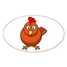 Cartoon Chicken Decal
