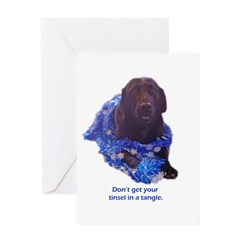 tinsel Greeting Card