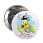 """Hip Easter Bunny 2.25"""" Button"""