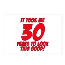 Cute 30th birthdays Postcards (Package of 8)