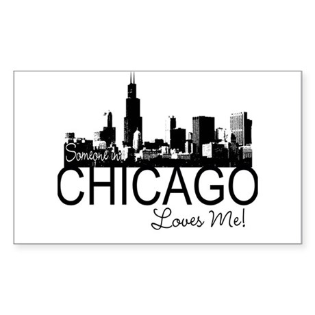 Someone in Chicago Loves Me S Sticker (Rectangle)