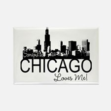 Someone in Chicago Loves Me S Rectangle Magnet