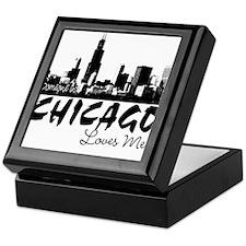 Someone in Chicago Loves Me S Keepsake Box