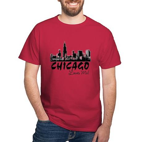 Someone in Chicago Loves Me S Dark T-Shirt