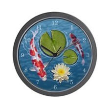 Cute Fish pond Wall Clock