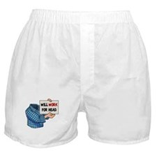 Will Work For Head Boxer Shorts