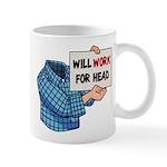 Will Work For Head Mug