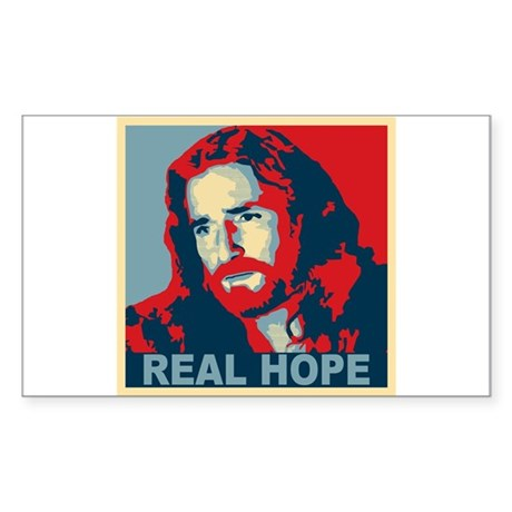 Real Hope Jesus Sticker (Rectangle)