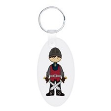 Cute Medieval Knight Aluminum Keychain